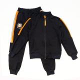 Костюм спортивный для мальчика, Rider, синий с оранжевым, SmileTime
