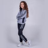 Костюм спортивный для девочки, Just Stripes, серый, SmileTime