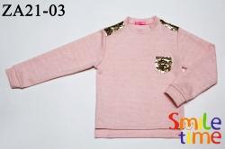 Свитер SmileTime детский с Кармашком, светло-розовый