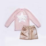 Комплект для девочки, свитер и юбка, Holiday, пудра, SmileTime