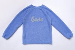 Свитер SmileTime для девочки нарядный Girls, голубой