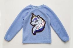Свитер SmileTime детский нарядный Pony, голубой