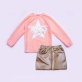 Комплект для девочки свитер и юбка, Holiday, персиковый, SmileTime