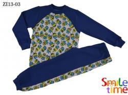 Пижама SmileTime Миньоны интерлок синий