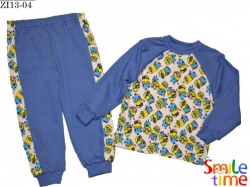 Пижама SmileTime Миньоны интерлок голубой