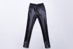 Лосины SmileTime детские кожаные на меху Leather perforation, черные