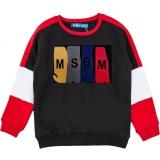 Свитшот SmileTime утепленный для мальчика MSGM, серый с красным