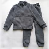 Теплый костюм для мальчика, с начесом, серый Comfort SmileTime